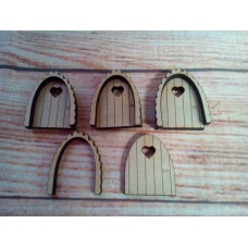 Mini Fairy Door Heart window Laser Cut PK10
